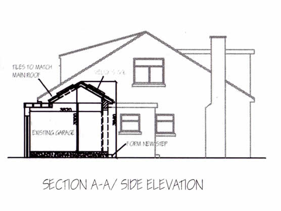 Garage Conversion | Side Elevation