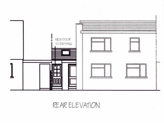 Garage Conversion | Rear Elevation