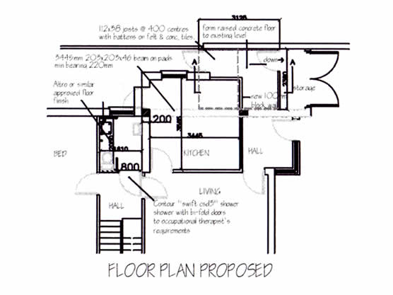 Garage Conversion | Proposed Floor Plan